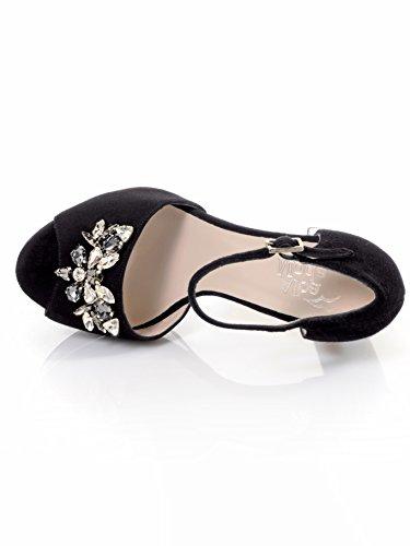 Alba Moda Vrouwen Sandalette Met Gemonteerde Edelstenen Zwart