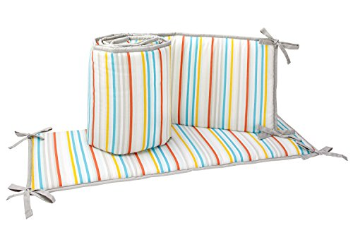 Zutano Juba Traditional Padded Bumper, Multi-Colored (Crib Bumper Striped)