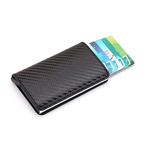Clearance 2019 New Aluminum Wallet Credit Card Holder Metal with RFID Blocking Slim Carbon Fiber Card ID Wallet by Francis4 (Image #6)