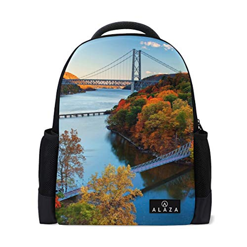 Backpack Hudson River Valley Autumn Womens Laptop Backpacks Hiking Bag Travel Daypack