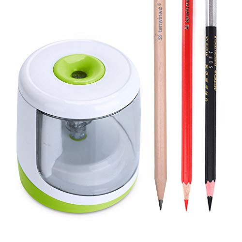 Pencil Sharpener Battery Operated Electric Pencil Sharpener Colored Pencils Sharpener automatic pencil cutter for kids,adults,artists,or sharpeners for pencils, office pencil sharpener-Tactic - Pencil Sharpener Compact Battery Operated