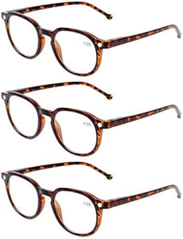 b281b5ee89bd READING GLASSES 3 Pair Retro Round Spring Hinged Readers Great Value  Quality Glasses for Reading