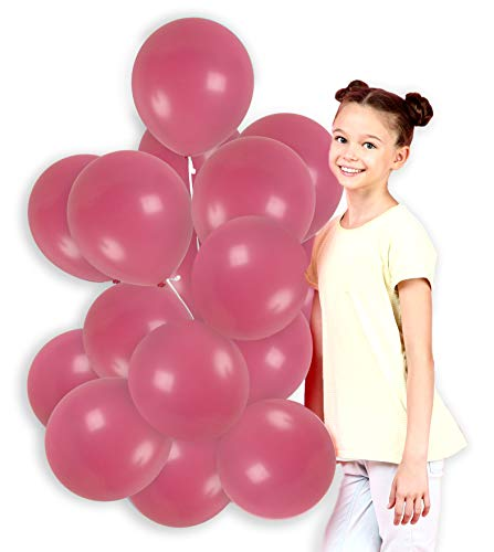 Treasures Gifted Rose Pink Solid Latex Balloons Kit for Birthday Baby Shower Valentine Wedding Balloons Arch Decorations (36 Pack) ()