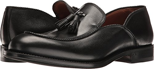 Aquatalia Men's Vigo Black Textured Dress Calf Loafer Italy Calf Mens Dress Shoes