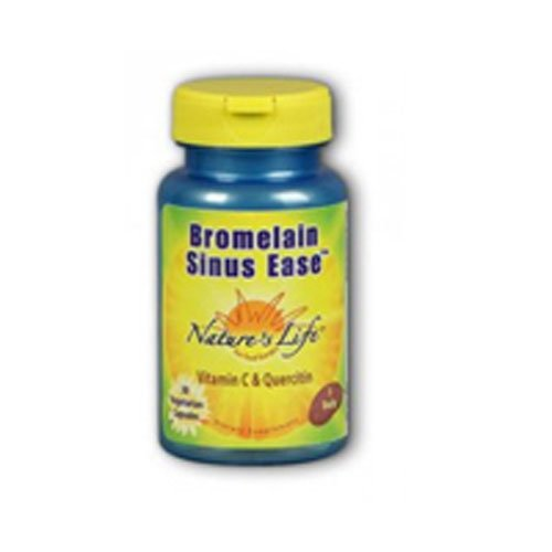 Nature's Life Bromelain Sinus Ease 1200mg | with Vitamin C & Quercetin | Sinus Health, Immune Function & Seasonal Support | 100 Vegetarian Capsules