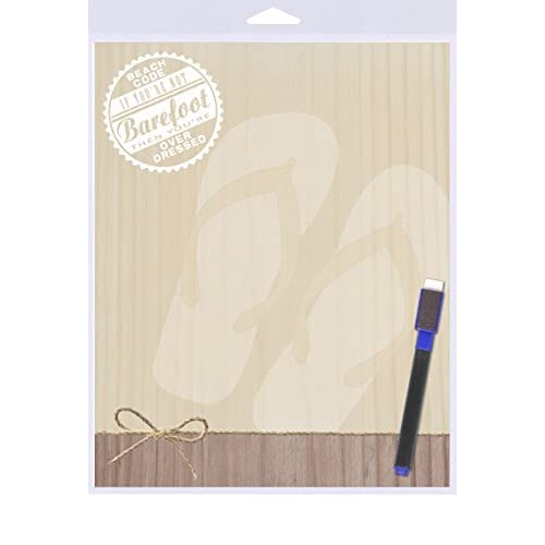 """(SJT40907) Beach Code - If You're Not Barefoot Then You're Overdressed Dry Erase Memo Board 8"""" x 10"""""""