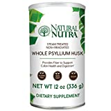 Natural Nutra Whole Psyllium Husk Powder, Fiber to Support Colon Health and Digestion, 12 oz, 81 Servings