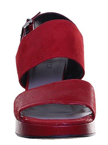 Justin Reece 5400 Sandal - Sandalias de vestir de Ante para mujer Red