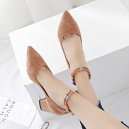 con En de nuevo tacones otoño el de solo sandalias black metálicas correa con sugerencia zapatos luz el audaz anillo satén patas femeninos z5rUzP