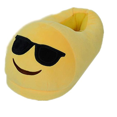 ♥ Loveso ♥ -Shuhe Emoji Männer Und Frauen Plüsch Pantoffel Expression Hausschuhe Winter Haus Schuhe (35-44(28.5cm / 11.22
