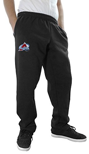 NHL Men's Official Team Sweatpants (Large, Colorado Avalanche) (Pants Hockey Avalanche)