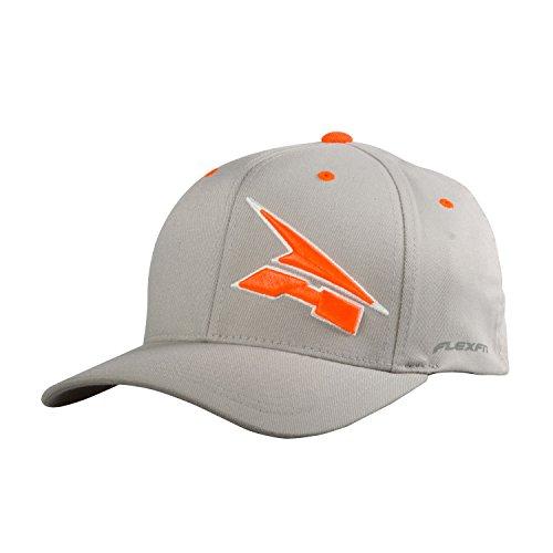 AXO Corporate Flexfit Hat (Gray/Fluorescent-Orange, Large/X-Large)