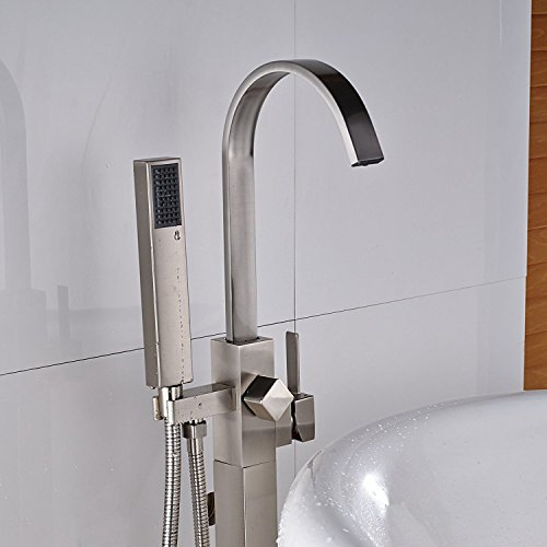 Senlesen Stainless Steel Floor Mounted Bathtub Faucet Hot