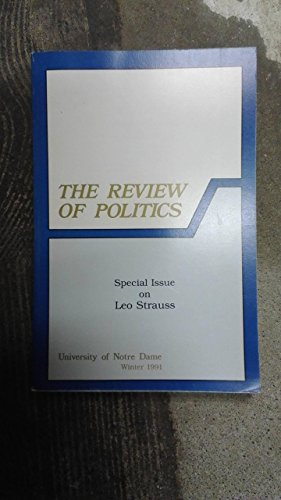 The Review of Politics: Special Issue on Leo Strauss
