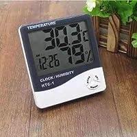 Higrometro Termo Relogio Digital Medidor De Mesa Temperatura (56192/1928)