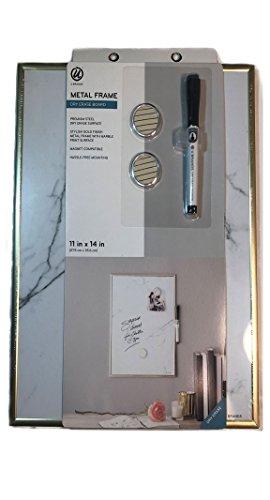 U Brands Marble Print Dry Erase Board, 11