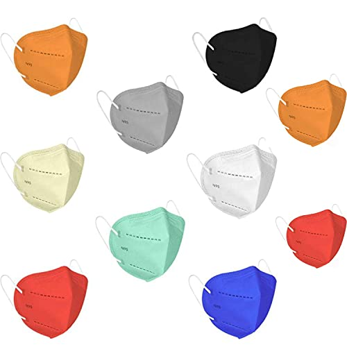 DRJ ENTERPRISE N-95 Washable Reusable Anti Pollution Dust Face Mask for Kids, Men and Women – Pack of 10 (multi color)