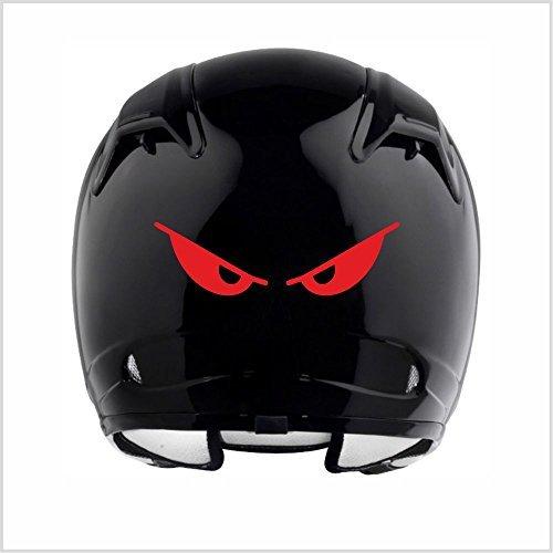 Everything Graphix Evil Eyes No Fear Motorcycle Biker Helmet Reflective Decal Sticker M2 5 1/2