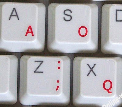 (Dvorak Simplified With Red Letters Transparent Computer Labels For)