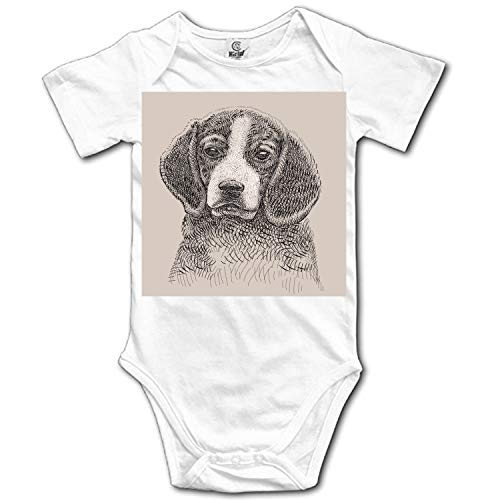 YSKHDBC Baby Dog Image Bodysuits Short Sleeve Rompers Outfits Summer Clothes -