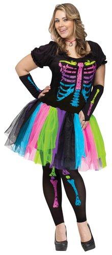 [Fun World Funky Punk Bones Women's Costume Plus Size] (Womens Plus Halloween Costumes)