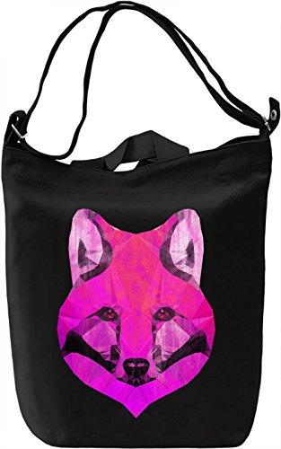 Pink Fox Borsa Giornaliera Canvas Canvas Day Bag| 100% Premium Cotton Canvas| DTG Printing|