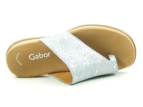 antikem Sandale Lanzarote in Komfortable Gabor Silberblau Pantoletten qX41EHW6w
