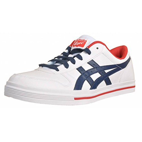 Asics AARON Chaussures Mode Sneakers Homme Blanc Bleu