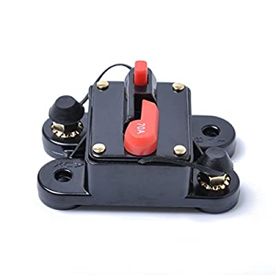 WINOMO 70Amp Circuit Breaker Inline Fuse Inverter with Manual Reset for Car Boat Stereo Audio: Automotive
