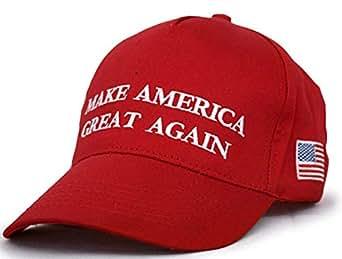 WENDYWU Make America Great Again - Donald Trump Campaign Cap Adjustable Baseball Hat (RED)