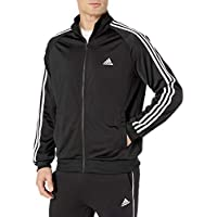 adidas Men's Tricot Track Jacket (Black / White)