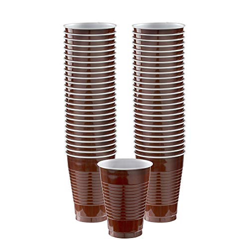 Big Party Pack Chocolate Brown Plastic Cups | 12 oz. | Pack of 50 | Party -
