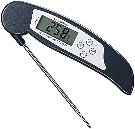 【Lectura Instantánea y Precisa】 Termómetro de cocina con una pantalla LCD y una punta de sonda sensi