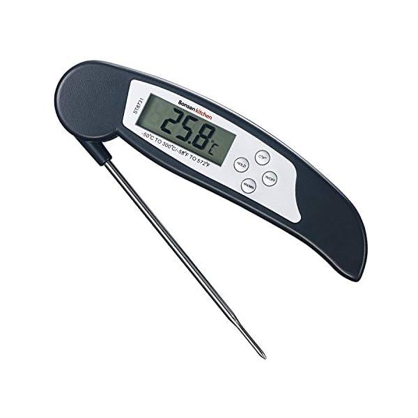 Bonsenkitchen Termometro Cucina Digitale, Termometro da Carne a Lettura istantanea per grigliate, Barbecue e Bevande… 1