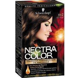 schwarzkopf nectra color 662 brun nougat coloration permanente soin la bote de 165ml - Nectra Color Schwarzkopf
