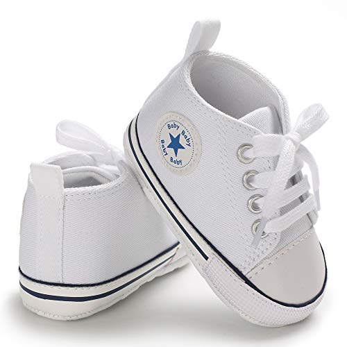 Save Beautiful Baby Girls Boys Canvas Sneakers Soft Sole High-Top Ankle Infant First Walkers Crib Shoes -