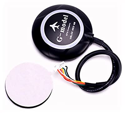 FPVKing Ublox NEO-6M 6M GPS Module Built-in Compass 5983 GPS +Black GPS Folding Seat Holder for FPV Multicopter APM APM2.6 APM2.8 Pixhawk Flight Controller by FPVKing