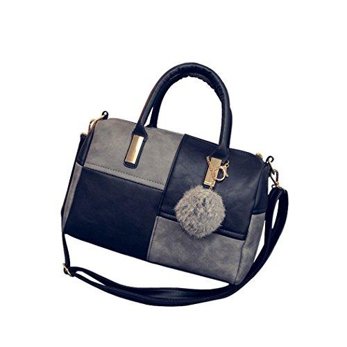 sun-lorence-women-fashion-pu-leather-shoulder-bag-strap-color-mixing-top-handle-bag-blackgrey