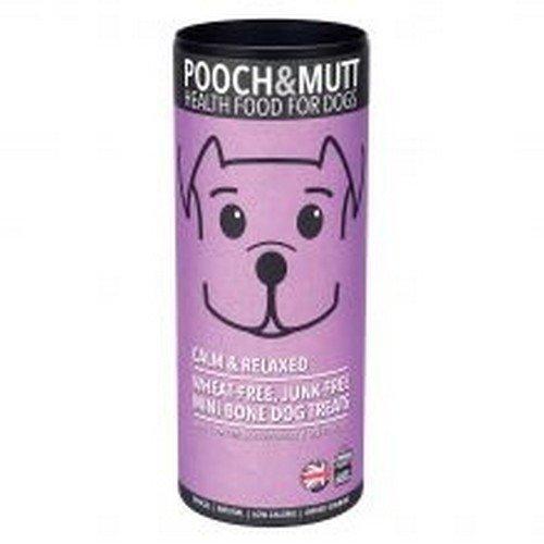 Pooch & Mutt Snacks con forma de huesitos Calmante y Relajante para perros (125g/