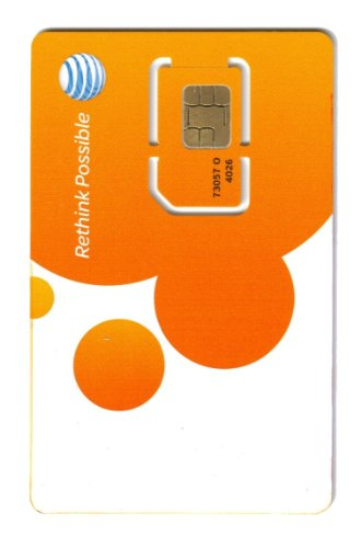 At T Wireless Newest 3G   4G   Lte Sim Card   Postpaid  Go Phone Prepaid   Sku 73057 Att Sim