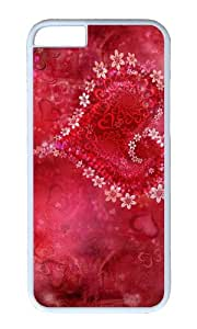 Valentine s Day flowers of love PC White Hard Case for Apple iPhone 6(4.7 inch)