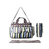 BEST DIAPER BAG by Brighter Elements for Stylish Moms, with BONUS Diaper Changing Pad, The Top Tote Bag for Baby's, Tons of Space for Toys, Bottles, Snacks, Wipes, & Clothes, Amazing Baby Shower Gift!