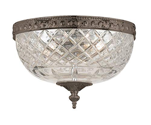 Cortland Flush Mount Light - Crystorama 117-8-EB Crystal Two Light Ceiling Mounts from Richmond collection in Bronze/Darkfinish,