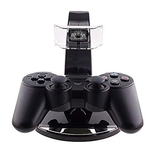 Doble Cargador Dock LED Carga Soporte PS3 Controlador ...