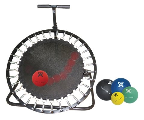 CanDo 10-3136 Adjustable Ball Rebounder, Set with Circular Rebounder, 5-Balls by Cando