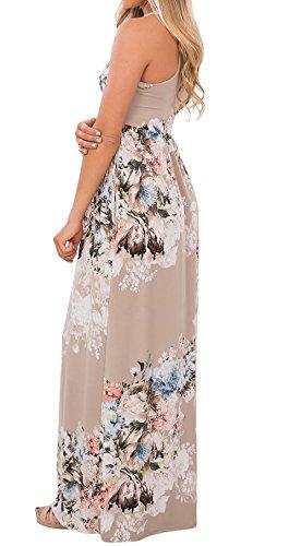 2f4d8cdf7bdf Sommer Kleider Partykleid Damen Blumen Kleid Ärmellos Abendkleider ...