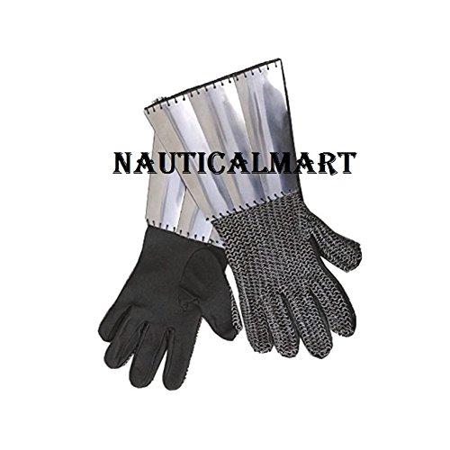 MEDIEVAL ARMOR STEEL CHAIN MAIL GAUNTLETS BY NAUTICALMART by NAUTICALMART