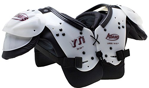 Adams USA Youth Yt200 Blocker Shoulder Pads White Maroon, Medium