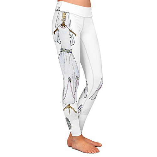 DiaNoche Designs Athletic Yoga Leggings from by Marley Ungaro - Wedding Dress by DiaNoche Designs