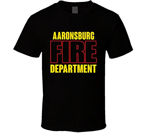 Aaronsburg Fire Department Personalized City T Shirt 2XL Black